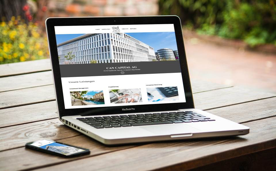 Webdesign mit WordPress - moderne Webseite für Real Estate - Immobilienmakler Georg Can