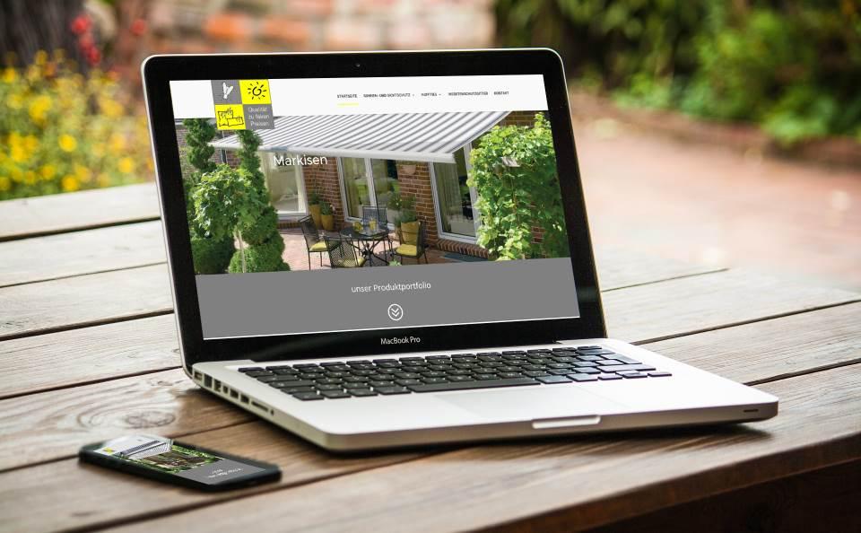 Webdesign mit WordPress - moderne Webseite für Raumausstatter Sonnen-Sicht-Schutz aus Hasbergen