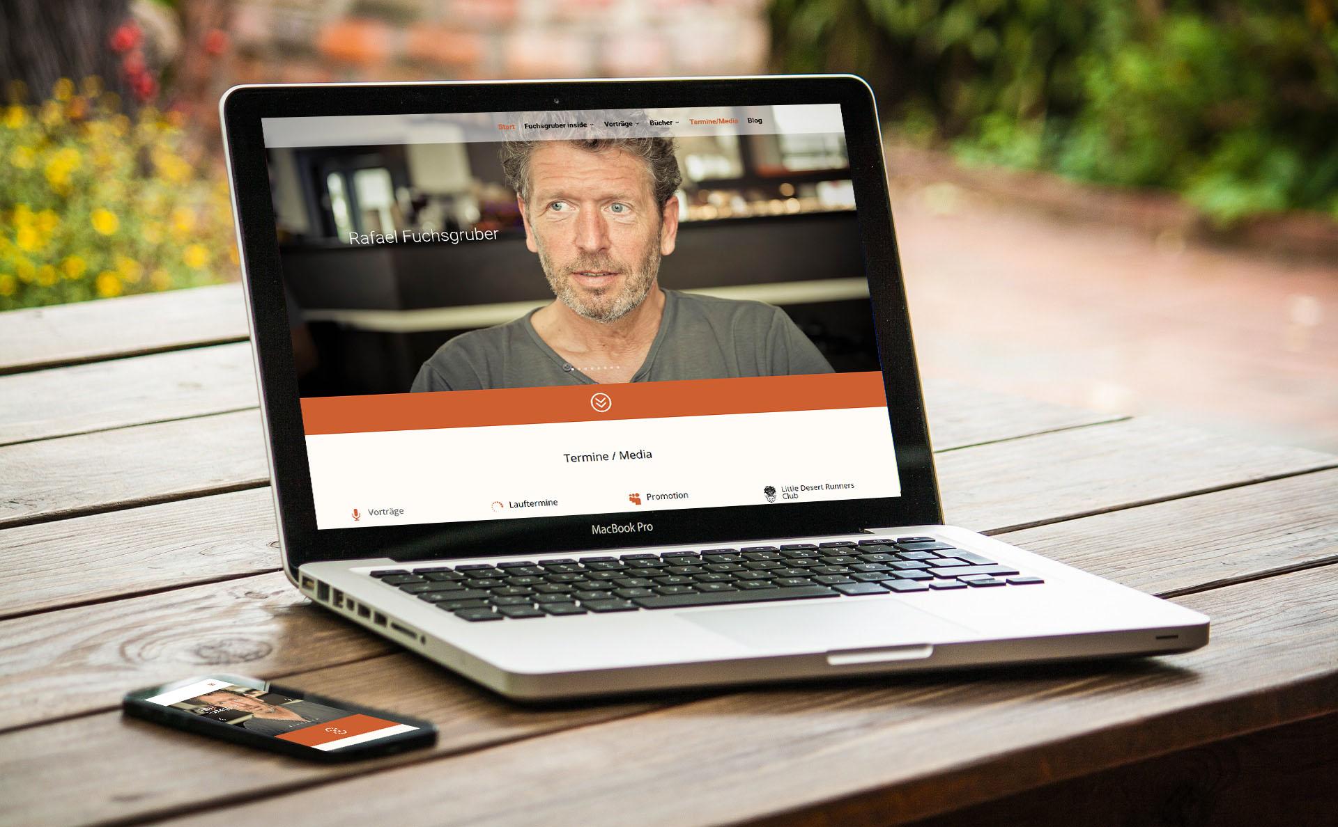 Webdesign mit WordPress - moderne Webseite für Personenmarke Rafael Fuchsgruber