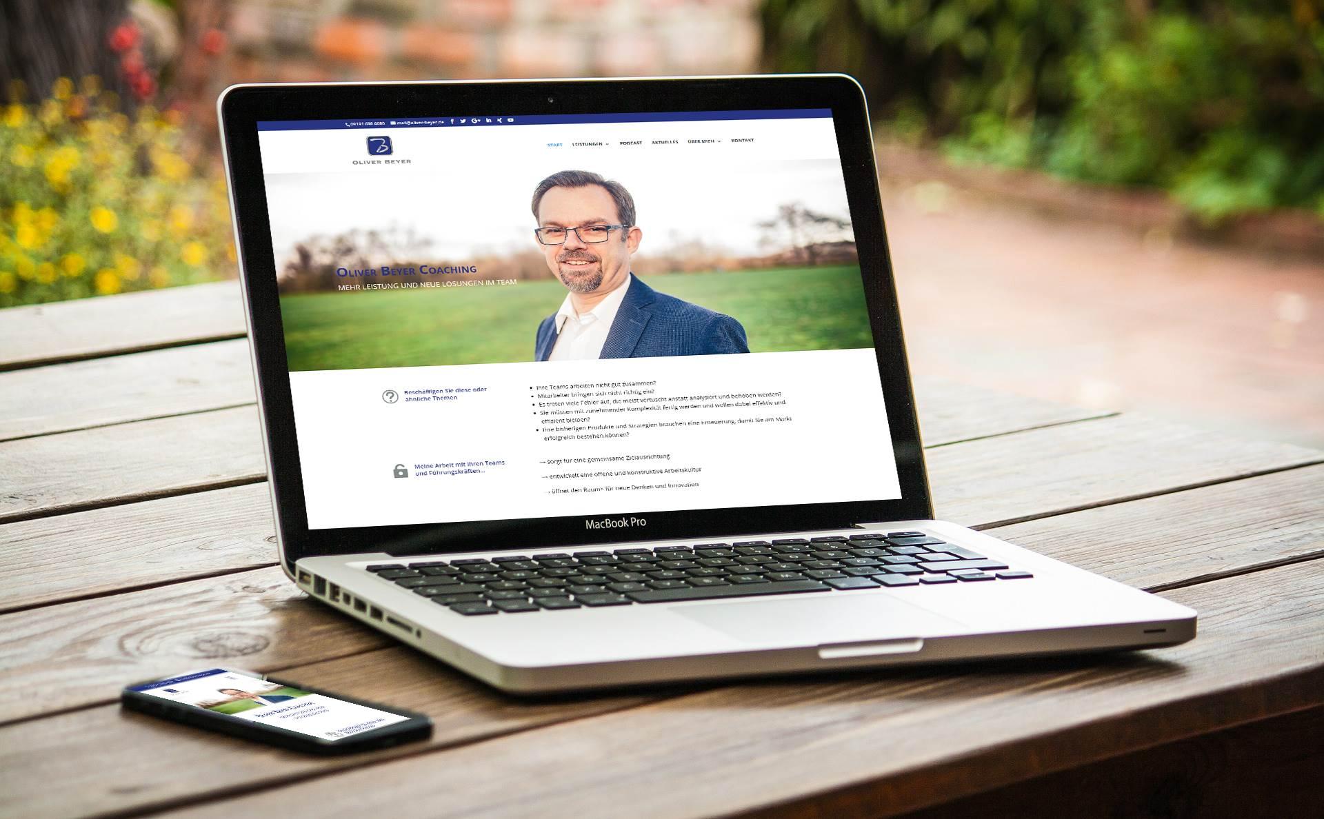 modernes Webdesign - responsive Webdesign - moderne Webseite für Coach Oliver Beyer