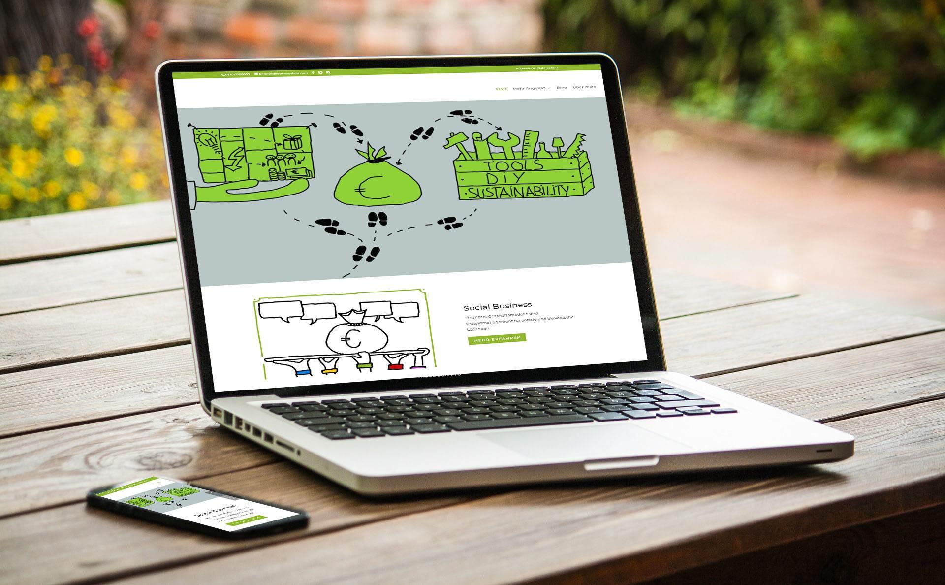 modernes Webdesign - responsive Webdesign mit WordPress - moderne Webseite für Coach Susanne Kitlinski