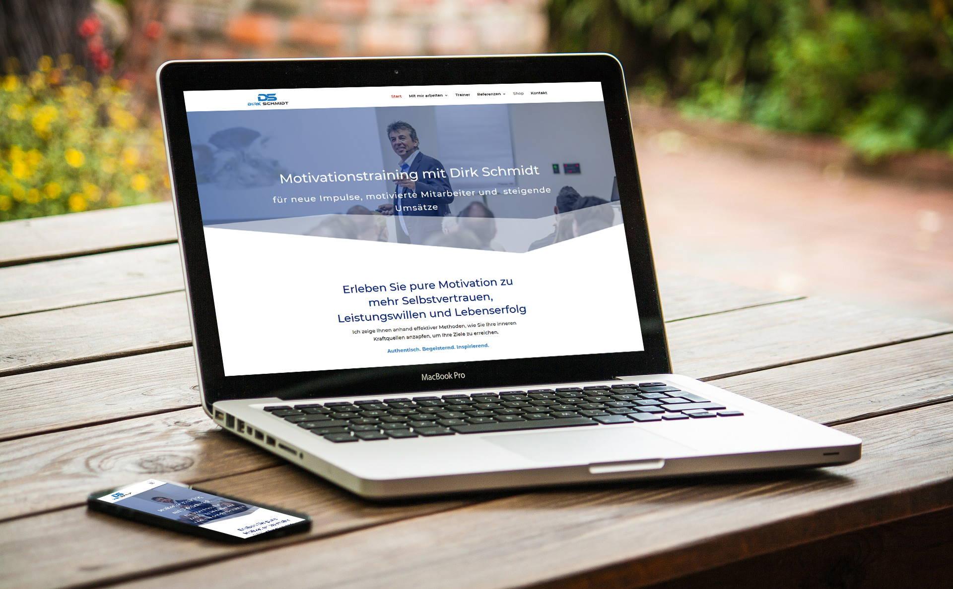 modernes Webdesign - responsive Webdesign mit WordPress - Webseite für Instagram Story Face Filter