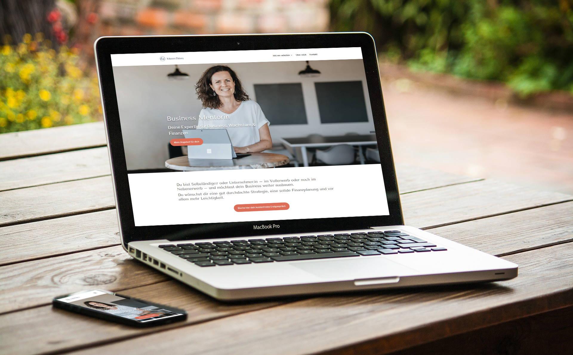 """modernes Webdesign - responsive Webdesign mit WordPress - Webseite für Psychotherapie-Praxis """"alles du"""""""