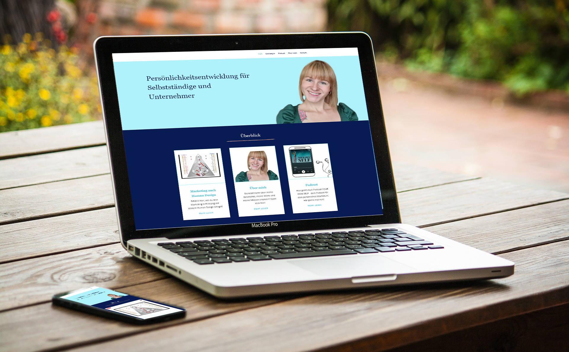 Website für Carmen Lichtenberg | Human Desing