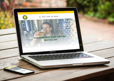 """Website & Online-Shop für die Brauerei """"Drei Kronen"""""""